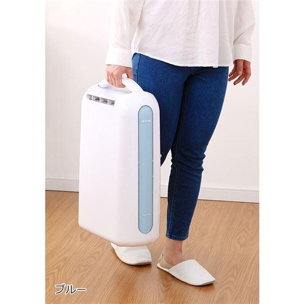 コンパクト 衣類乾燥除湿機 〔ブルー〕 デシカント式 16.5cm×32.5cm×51cm 重さ約4.4kg 〔リビング ダイニング〕