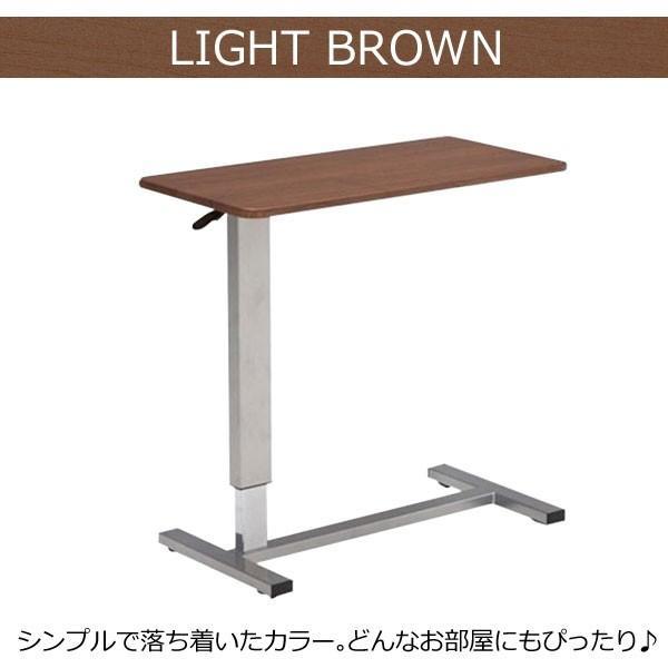 ベッドテーブル サイドテーブル 介護テーブル 昇降サイドテーブル 介護支援 電動ベッド用 昇降式 DW-1320 360°回転 キャスター付 移動式 多目的|comodocasa|06