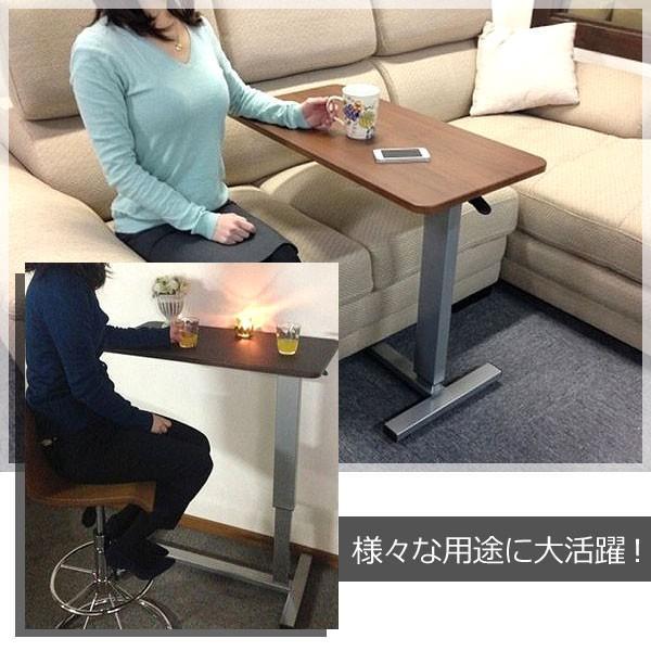 ベッドテーブル サイドテーブル 介護テーブル 昇降サイドテーブル 介護支援 電動ベッド用 昇降式 DW-1320 360°回転 キャスター付 移動式 多目的|comodocasa|10