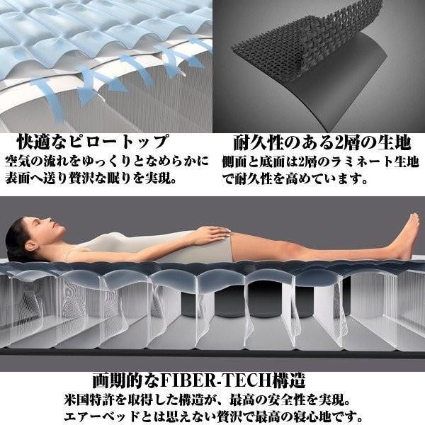 上級モデル インテックス INTEX エアーベッド 簡易ベッド マット厚さ46cm コンパクト 持ち運び 電動 プレムエアー ワン 64903 ダブル Prem AIRE1 エアベッド|comodocasa|07