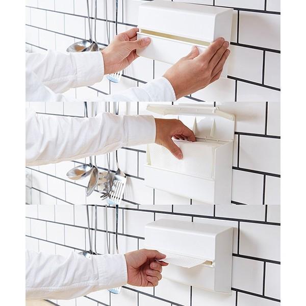 ideaco イデアコ 「WALL PT(ウォール ピーティ)」キッチンペーパーホルダー 壁に貼って使える ペーパーケース ティッシュ シンプル 人気 おしゃれ ランキング|comodocasa|06