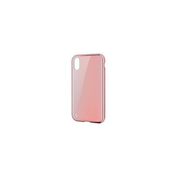 エレコム PM-A18CTSGMPNL TOUGH SLIM 女子向 サイドメッキ ライトピンク〔iPhone XR用〕の画像