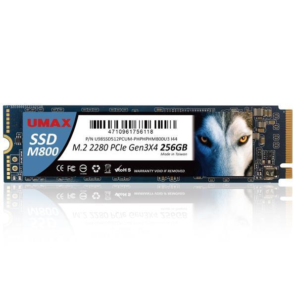 UMAX (M.2 2280 NVMe SSD) M800 M.2 2280 PCIe Gen3x4 256GB 目安在庫=△