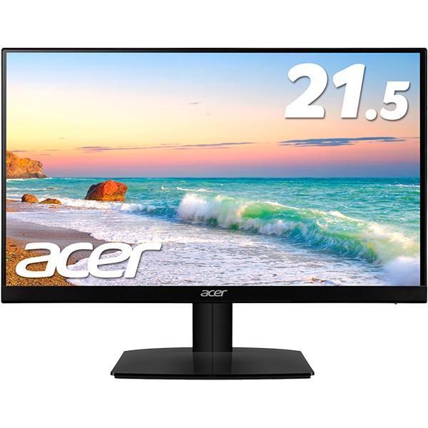 Acer 21.5型ワイド液晶ディスプレイ (IPS/非光沢/1920x1080/16:9/250cd/m2/100,000,000:1/4ms/ブラック/ミニD-Sub15ピン・HDMI) HA220Qbi
