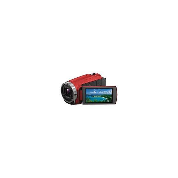 ソニー デジタルHDビデオカメラレコーダー Handycam CX680 レッド 目安在庫=△
