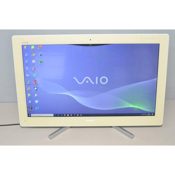 中古品一体型パソコン Windows10 ソニー VPCL218FJ i5-2410 大容量HDD2TB 4GB 即出荷 カメラ 便利ソフト 全国一律送料無料 無線 24インチ Office2016 ブルーレイ