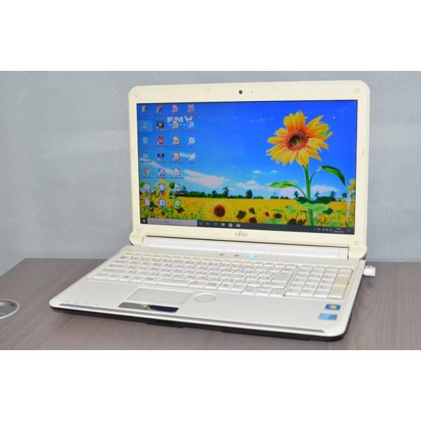中古ノートパソコンWindows10+office 大容量HDD640GB 富士通 ご予約品 AH550 5B i5-560M 男女兼用 4GB USB3.0 ブルーレイ WEBカメラ HDMI 便利なソフト多数