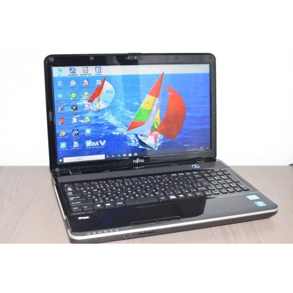 <title>中古パソコン ノートパソコン ノートPC Windows10 トレンド office 爆速新品SSD256GB 富士通 AH35 L 高性能 Core i3 3120M 4GB 無線 WEBカメラ 15.6型 Bluetooth</title>