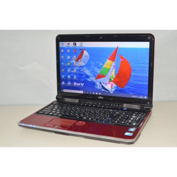 中古ノートパソコン Windows10 人気の定番 office HDD640GB 富士通 LIFEBOOK AH700 5B 4GB ブルーレイ 15.6インチ カメラ テンキー USB3.0 クリアランスsale!期間限定! i5-560M