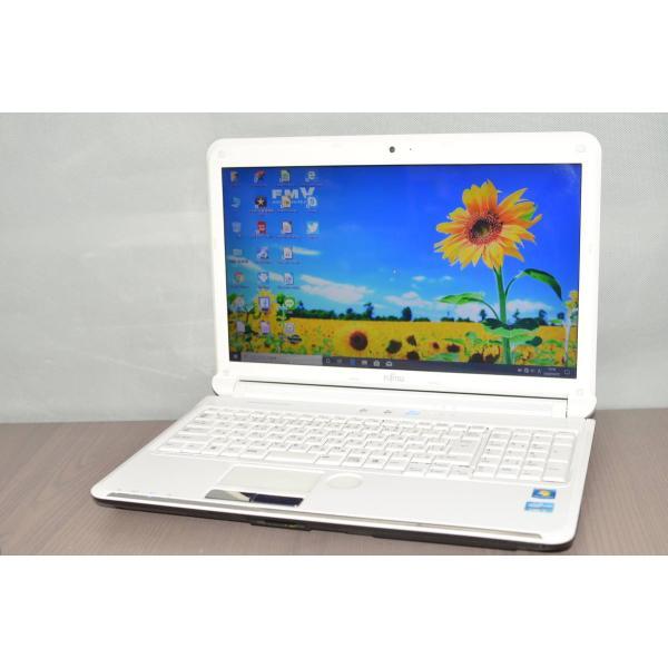 中古良品 最新Windows10+office 富士通 AH55 GC i5-2450M 新品爆速SSD250GB USB3.0 爆買いセール HDMI ブルーレイ 4GB 便利なソフト 無線内蔵 無料サンプルOK 15.6インチ