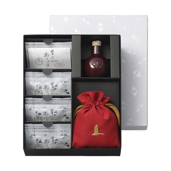 下鴨茶寮 料亭の粉しょうゆギフトボックス 16袋 赤巾着 通常ご注文 代引不可 ギフト