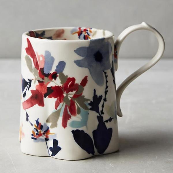 アンソロポロジー 花柄マグカップ