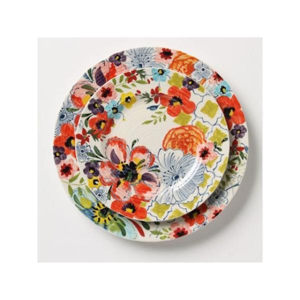 アンソロポロジー 花柄 ディナープレート&ケーキプレート 2枚セット Anthropologie Sissinghurst Castle サラダプレート サイドプレート 大皿|conceptstore
