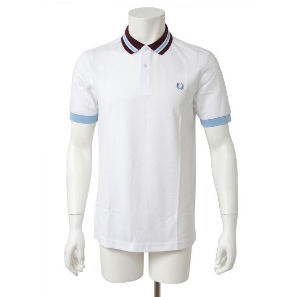 FRED PERRY フレッドペリー メンズ 半袖 ポロシャツ M9521 100 ホワイト|concerto