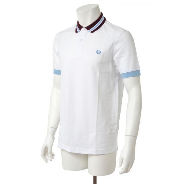 FRED PERRY フレッドペリー メンズ 半袖 ポロシャツ M9521 100 ホワイト|concerto|02