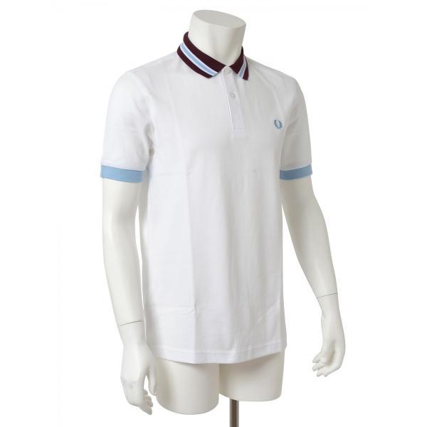 FRED PERRY フレッドペリー メンズ 半袖 ポロシャツ M9521 100 ホワイト|concerto|03