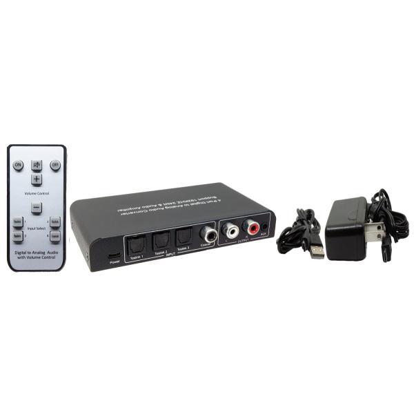 Amulech オリジナルAL192-3O1C DAC 192kHz/24bit対応、光/同軸デジタル入力、電子ボリューム採用のプリアンプおよびヘッドホンアンプを搭載のDAコンバーター|coneypoint-store