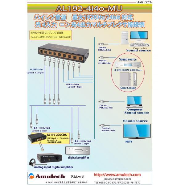 Amulech オリジナル   AL-SOP192SQ10 ハイレゾ音源対応 192Khz/24Bit対応(動作保証) Toslink(トスリンク)角型光デジタルオーディオケーブル 1m|coneypoint-store|06