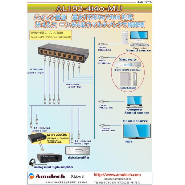 Amulech オリジナル  AL-SOP192SQ15 ハイレゾ音源対応 192KHz 24Bit動作保証, 光角型デジタルオーディオケーブル ケーブル長【 1.5m】|coneypoint-store|06