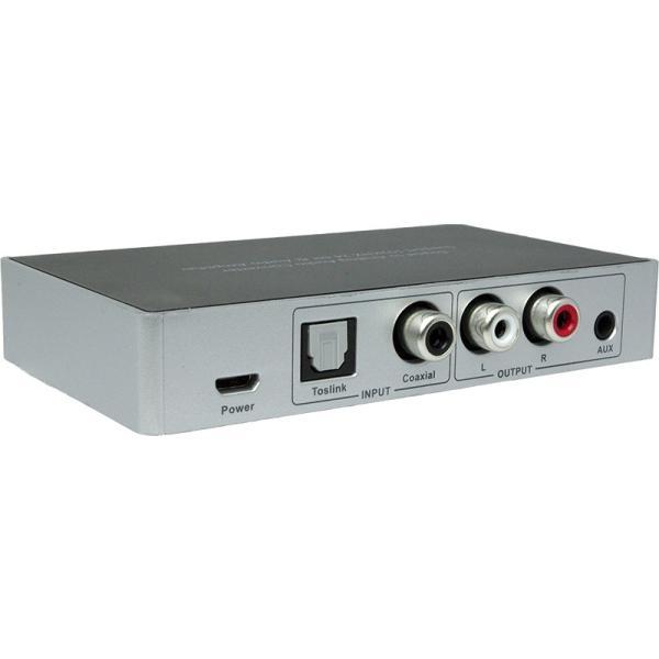 Amulech オリジナル  AL192-1C1ODAC  192kHz/24bit対応、光/同軸デジタル入力、電子ボリューム採用のプリアンプおよびヘッドホンアンプを搭載のDAコンバーター|coneypoint-store