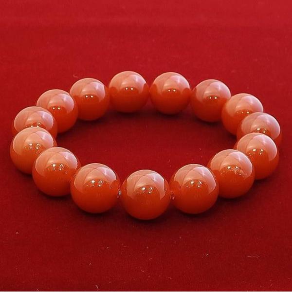 レッドアゲート 赤瑪瑙 ブレスレット パワーストーン 天然石 14mm メンズ レディース シンプル ブランド おすすめ 人気 送料無料