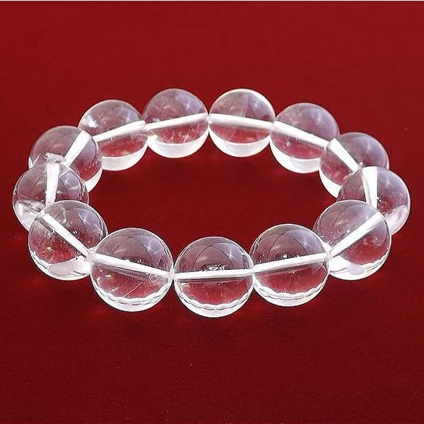 クリスタル 水晶 ブレスレット パワーストーン 天然石 16mm メンズ レディース シンプル ブランド おすすめ 人気 送料無料