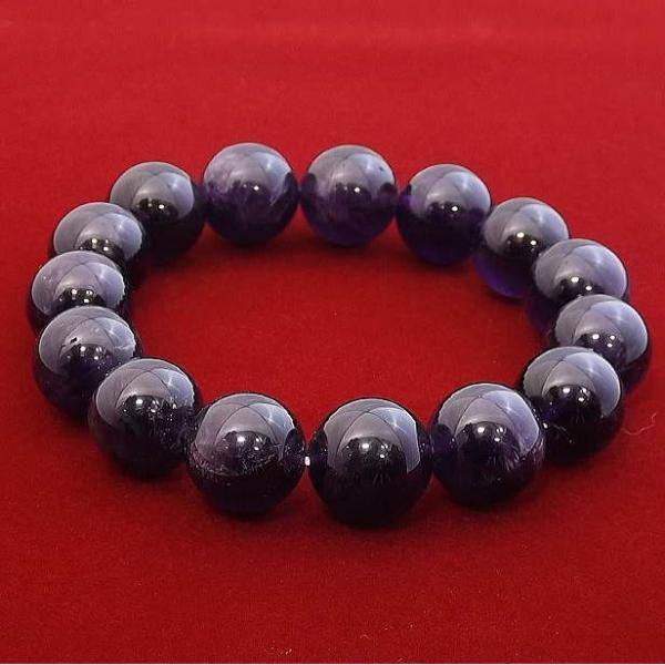 アメジスト ブレスレット パワーストーン 天然石 14mm メンズ レディース シンプル ブランド おすすめ 人気 送料無料