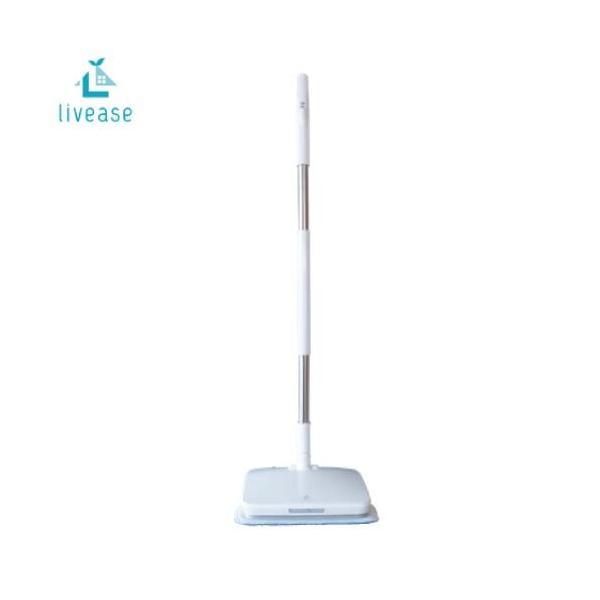 livease コードレス電動モップ(水スプレー機能付き) [EM-011W] 手軽なのにしっかり いつでもスイスイ床の拭き掃除