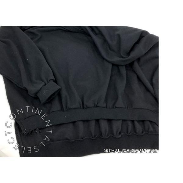 ボリューム袖バックロングスウェット トレーナー レディース 長袖 カットソー シンプル 大きいサイズ ビッグシルエット オーバーサイズ 無地 スエット|continental-clothing|09