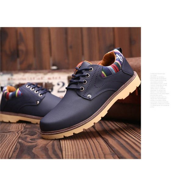 ワークブーツ メンズ ローカット 本革調 スニーカー ワークブーツ メンズ ブランド エンジニアブーツ ショートブーツ レースアップ 靴 防水 防滑 紐 厚底 convenience 14