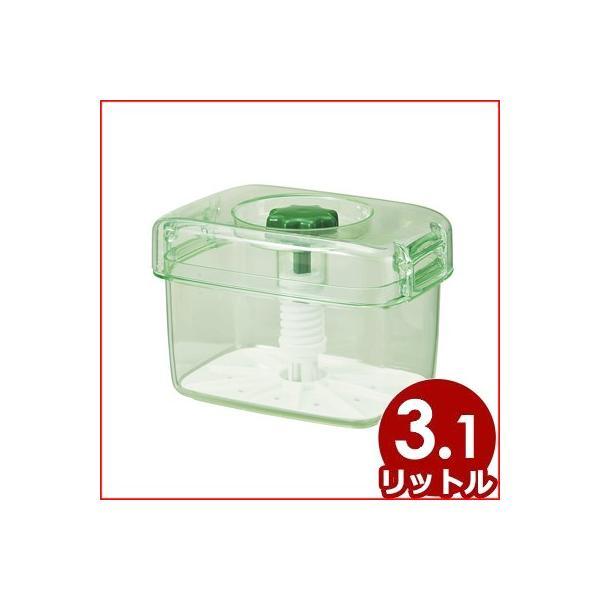 トンボ 即席つけもの器ピクレ角型 K30型 スケルトングリーン 240×155×高さ160mm 即席漬け 浅漬け 保存食 手作り 簡単 手軽