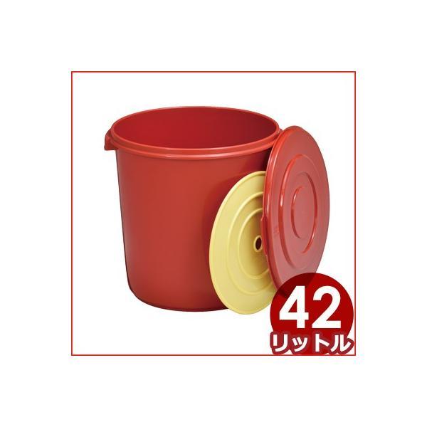 トンボ みそ樽 42型 フタ付  Φ42×高さ52cm ポリエチレン製 味噌・漬物・保存食 大容量保存容器 プラスチック製