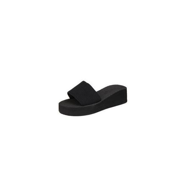 厚底サンダル 美脚効果 レディス 歩きやすい カジュアル つっかけ|coollife|04