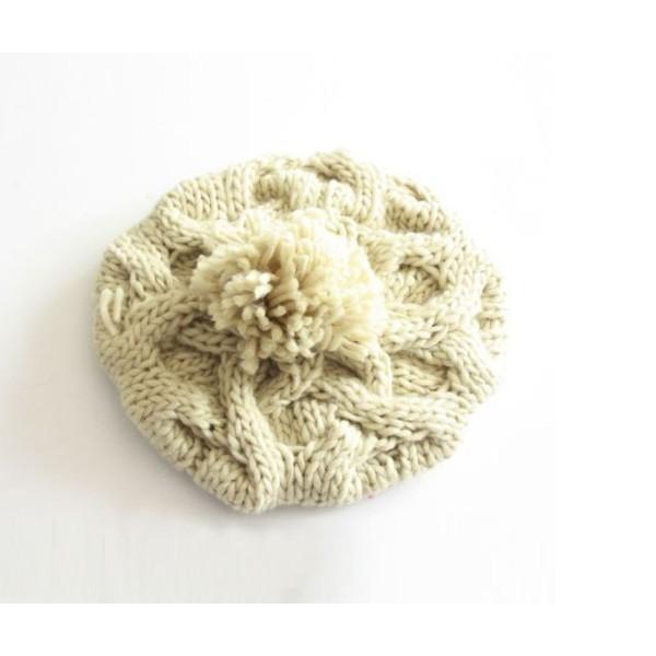 ニットベレー帽 ボンボン付き レディース ベーシック ニット帽 ベレー帽 帽子 レディス かわいい 防寒 防風|coollife|05