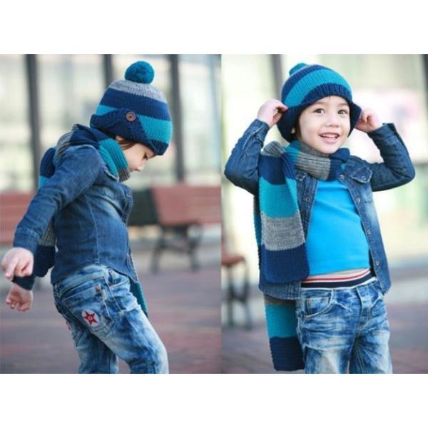 子供 ニット帽 マフラーセット 男の子 キッズ KIDS ベビー 子ども キャップ ニットキャップ 帽子 冬 防寒 かわいい|coollife|05