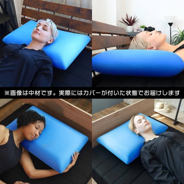 枕 まくら 母の日 マクラ 肩こり ジェル低反発 ブルーブラッド 快眠 3D体感ピロー BlueBlood|coolzon|03