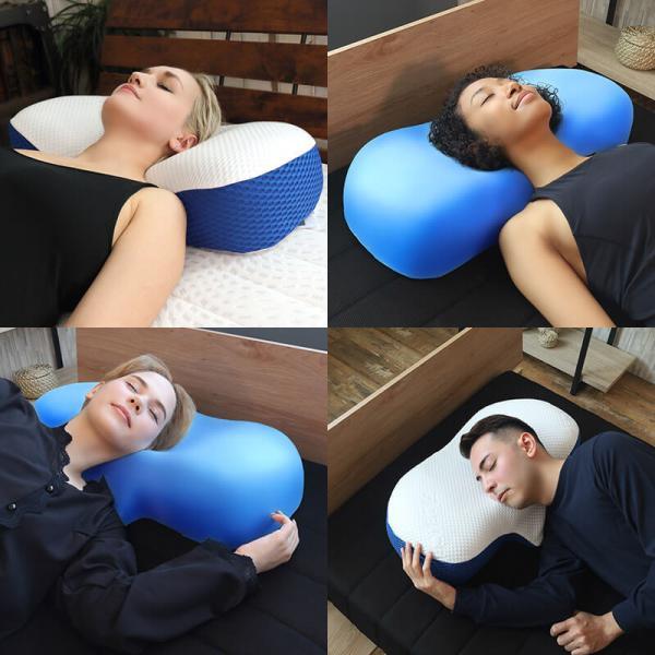 枕 肩こり 横向き寝 ブルーブラッド4Dまくら トリニティーマクラ BlueBloodピロー インサートモールディング|coolzon|04