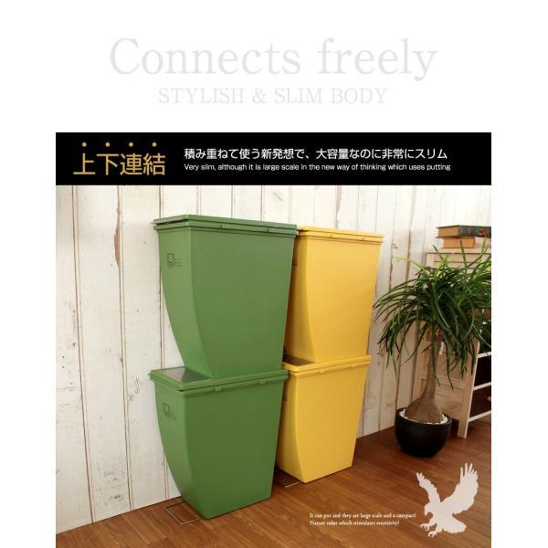 ごみ箱 下段タイプ 21L 分別ダストBOX ゴミ箱  ペール オシャレ 省スペース 積み上げダストボックス Terra テラ|coolzon|03