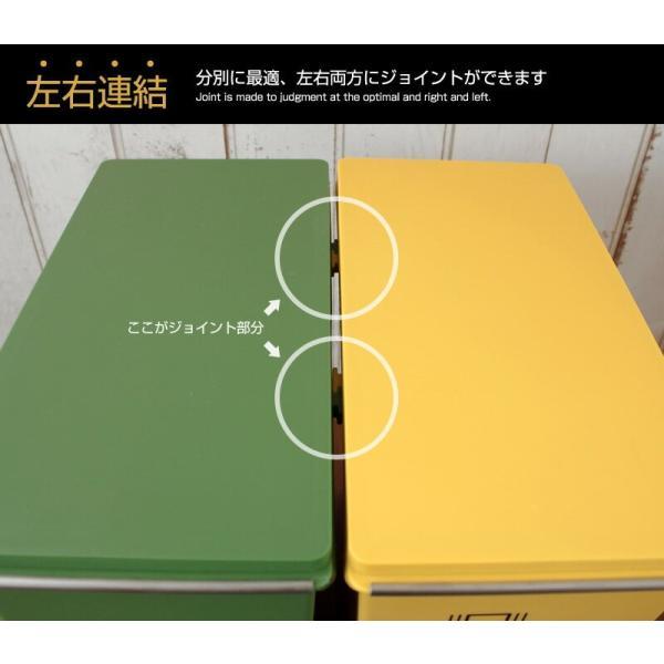ごみ箱 下段タイプ 21L 分別ダストBOX ゴミ箱  ペール オシャレ 省スペース 積み上げダストボックス Terra テラ|coolzon|05