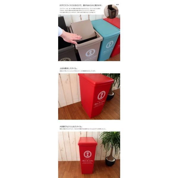 ごみ箱 大容量/分別用 フレンチ・モティーフ スライドペール Vieta:ヴィータ 45L 日本製 ゴミ箱 ダストボックス coolzon 02