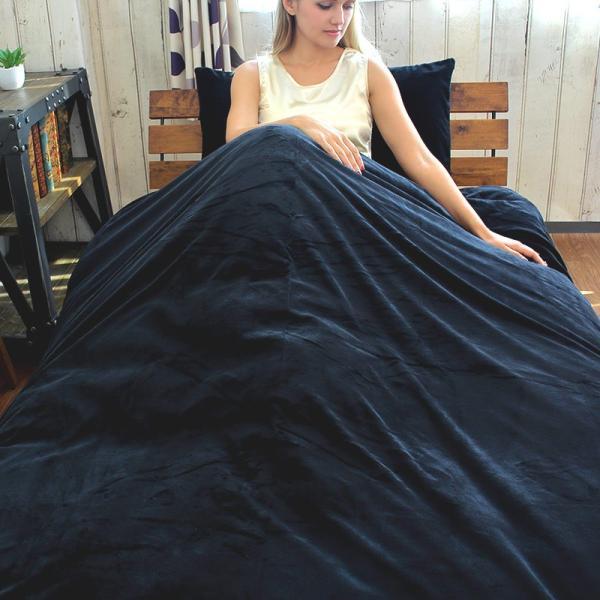 敷き布団カバー ダブル ボンベロア BON VELOUR 起毛ベロア調 毛布のようにふんわり あったかマイクロファイバー カバーリング  145×215cm 敷布団カバー|coolzon|03