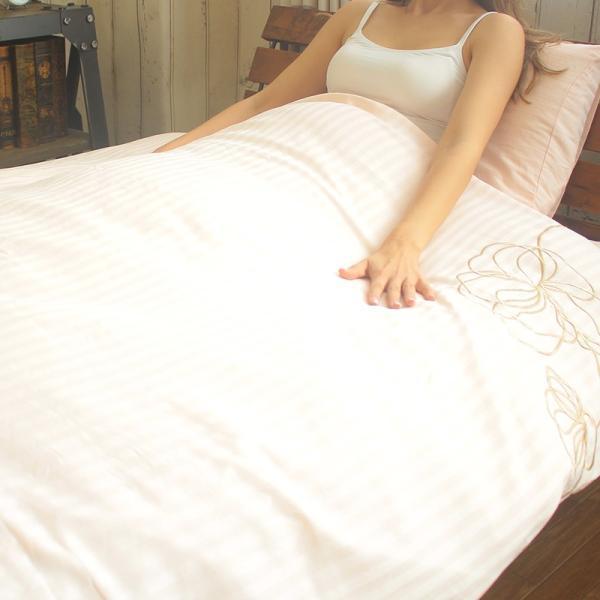 枕カバー ラビアナホテルデザイン サテンストライプ Arosa アローサ 43×63cm まくらカバー ピローケース かぶせ式 coolzon 13