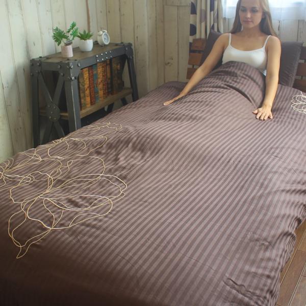 枕カバー ラビアナホテルデザイン サテンストライプ Arosa アローサ 43×63cm まくらカバー ピローケース かぶせ式 coolzon 06