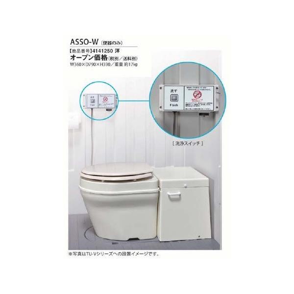 仮設トイレ ハマネツ ASSO-W ASSOポンプ圧送式便器ユニット ポンプ圧送式便器ユニット 洋式  [♪■【※送料別途見積】]