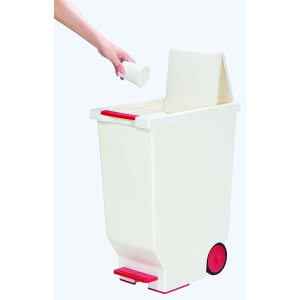 ゴミ箱 スライドペダルペール おしゃれ リビング 45L 赤 黒 黄緑|copa|04