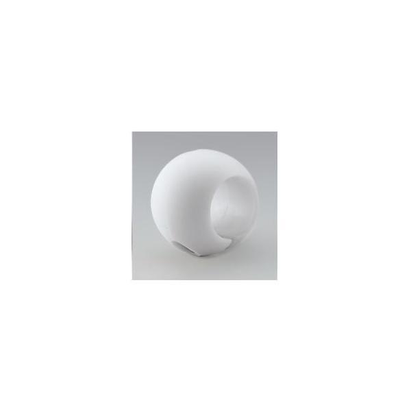 大人気〔5個セット〕階段手すり滑り止め 『どこでもグリップ』ボール形 軟質樹脂 直径32mm アイボリー シロクマ 日本製