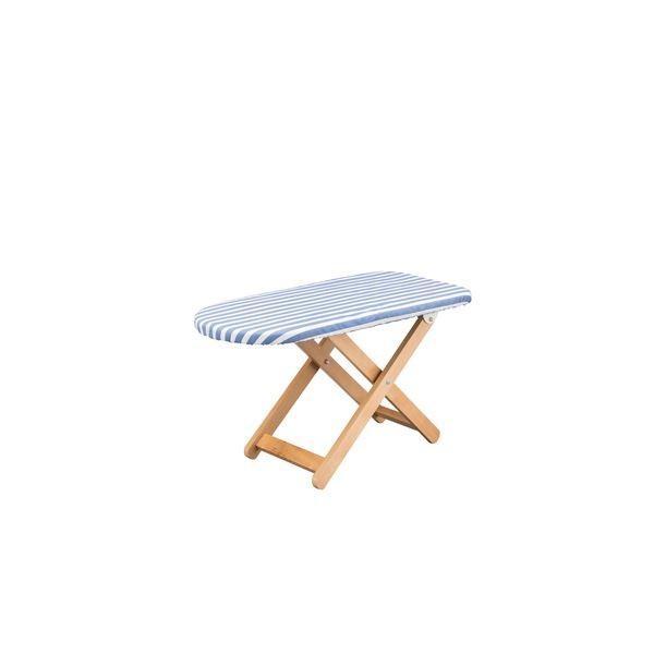 大人気スタンド式 アイロン台 〔Sサイズ ブルー〕 幅80cm 木製 綿 スチール 脚付き 〔リビング 寝室 ベッドルーム〕