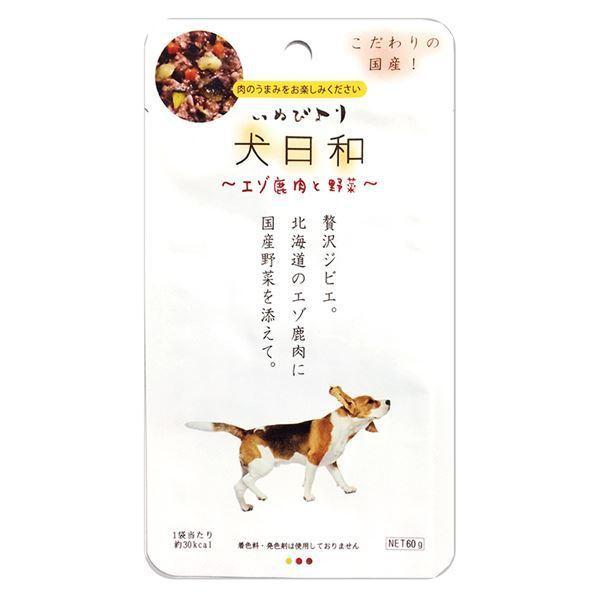 大人気(まとめ)犬日和レトルト エゾ鹿肉と野菜 60g(ペット用品・犬用フード)〔×30セット〕