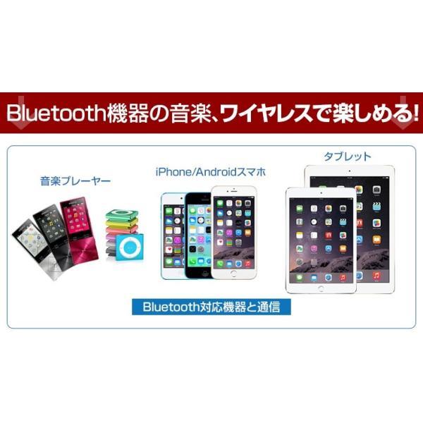 Bluetooth レシーバー ブルートゥース AUX オーディオ ワイヤレス スピーカー FMトランスミッター 車 ハンズフリー 通話 iPhone スマホ 音楽再生 受信機|coroya|09