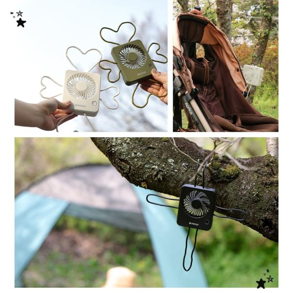 扇風機 ベビーカー ハンディ 車 USB 充電式 静音 静か 強力 卓上 キャンプ 後部座席 赤ちゃん 持ち運び おしゃれ クリップ ハンディファン ポータブル INOVA|coroya|18